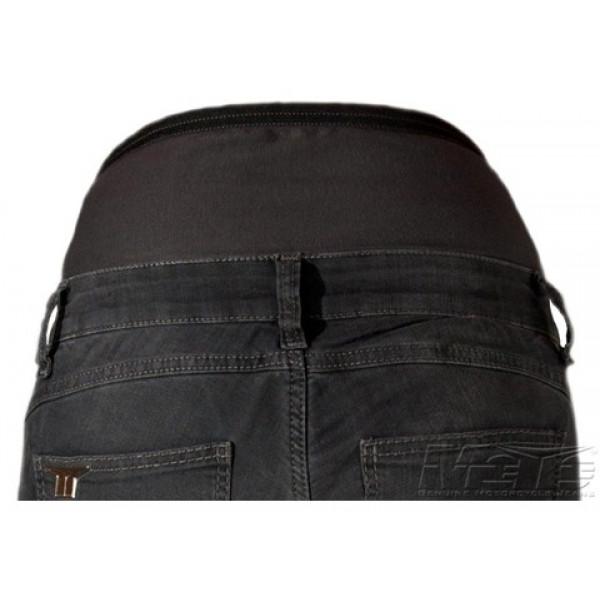 Jeans moto donna Motto KIRA X con rinforzi in kevlar grigio