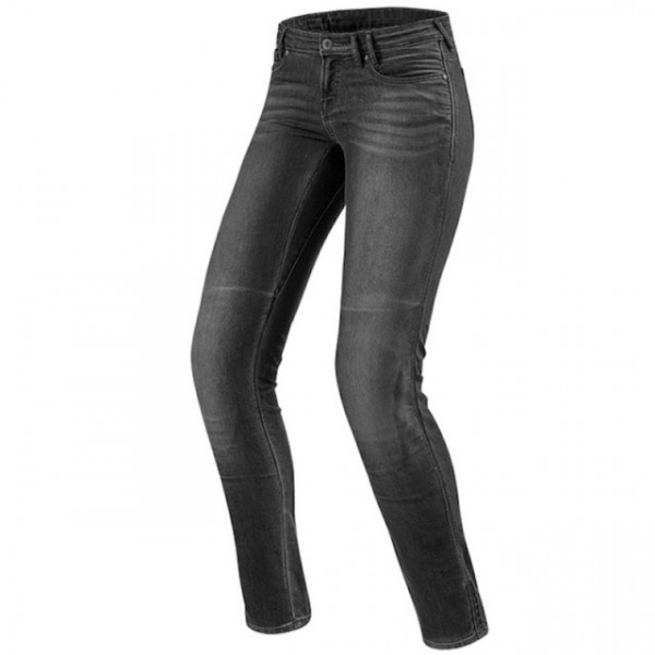 Jeans moto donna Rev'it Westwood Ladies SF Grigio Medio Slavato