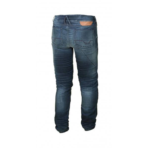 Jeans moto Macna Stone con rinforzi in Kevlar blu