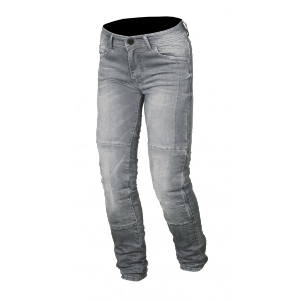Jeans moto Macna Stone con rinforzi in Kevlar grigio