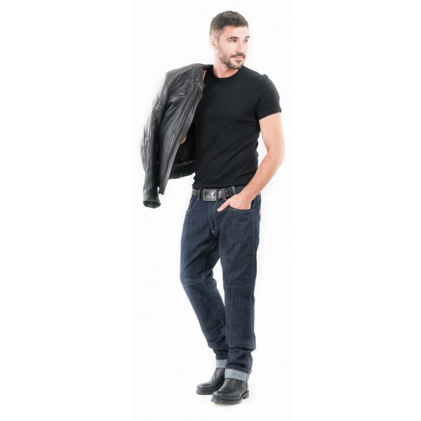 Jeans moto Motto City X Evo Raw blu scuro