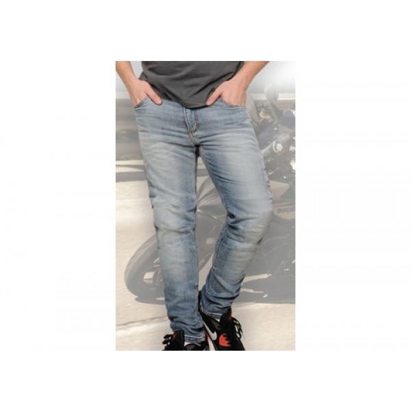 Jeans moto Motto ITALIA con rinforzi in Kevlar blu chiaro