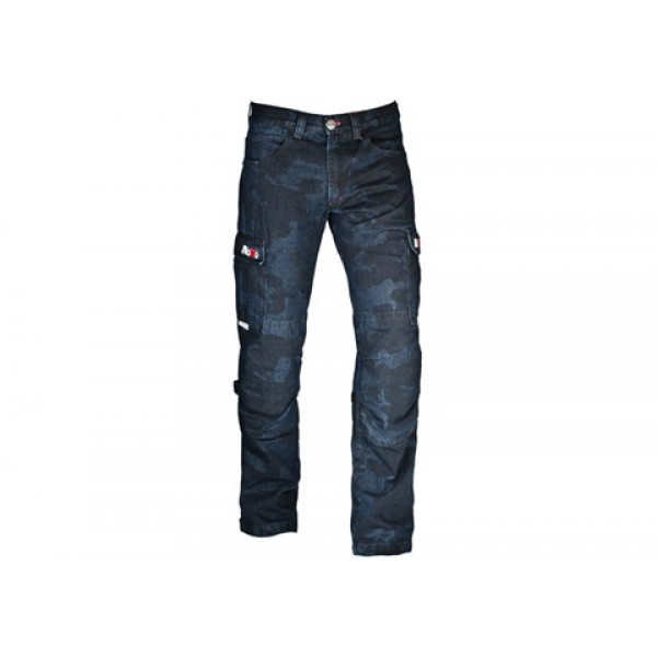 Jeans moto Motto URBAN con rinforzi in Kevlar blu