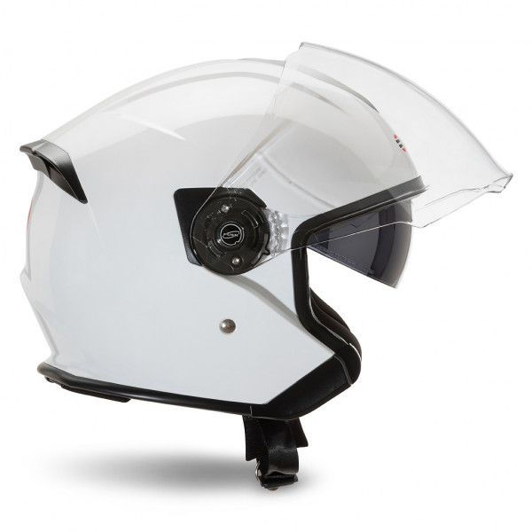 Casco jet Befast JET Connect Bianco con interfono integrato