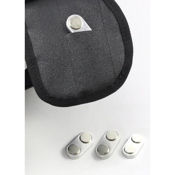 Borsa serbatoio Befast grande 28lt Nero completa di magneti per serbatoi in metallo