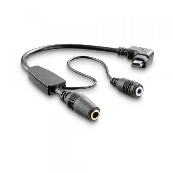 Kit cavo adattatore per Auricolari 3,5 mm e microfono Cellular Line per interfoniTour Sport e Urban