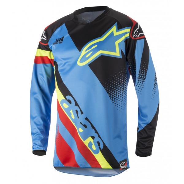 Maglia cross Alpinestars Racer Supermatic azzurro nero rosso