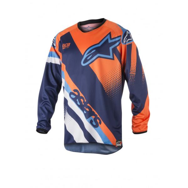 Maglia cross Alpinestars Racer Supermatic blu arancio azzurro