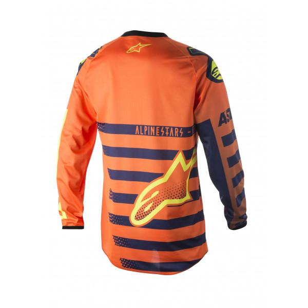 Maglia cross bambino Alpinestars Youth Racer Braap arancio blu bianco