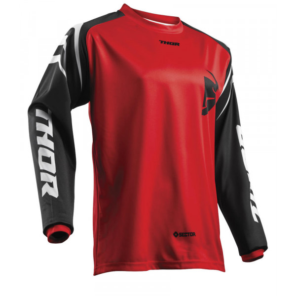 Maglia cross Thor S8 SECTOR ZONES rosso