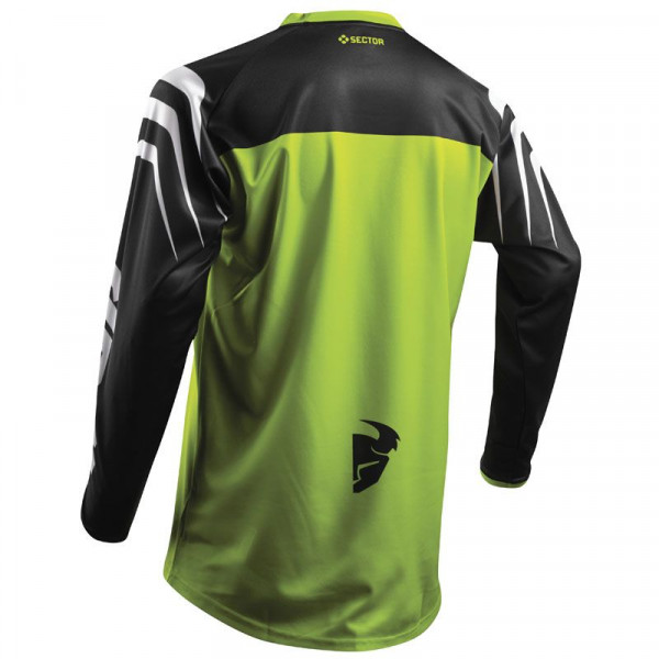 Maglia cross Thor S8 SECTOR ZONES Verde Lime