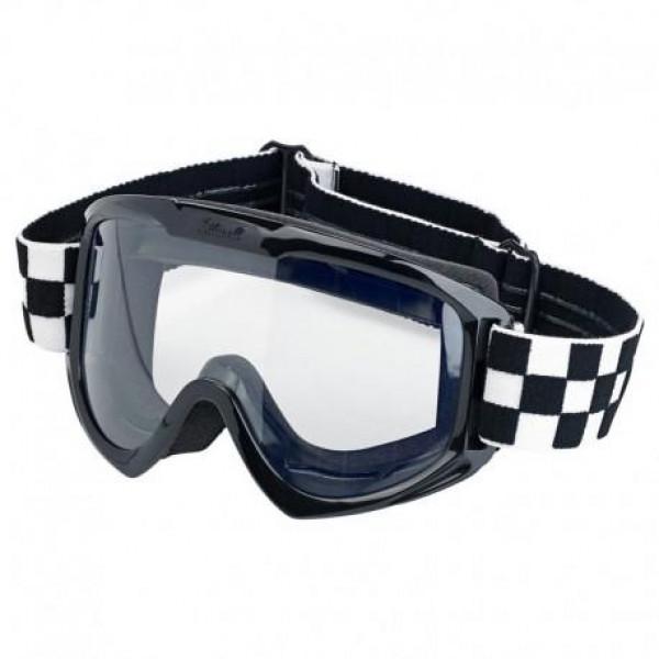 Maschera moto Biltwell 2.0 Checkers nero