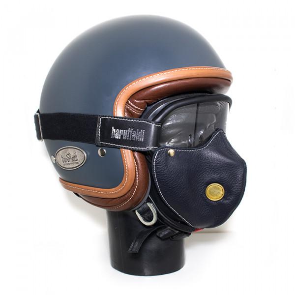 Maschera pelle e occhiali Baruffaldi Super Hector S  nero