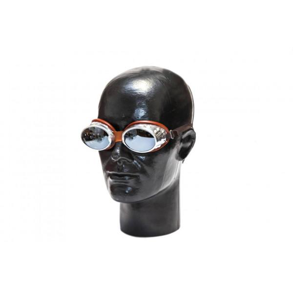 Occhiali moto Baruffaldi 101 Oval Alluminio marrone