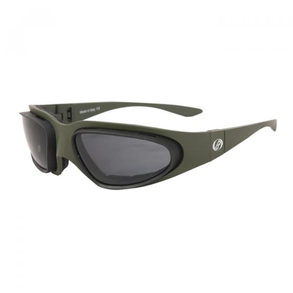 Occhiali moto Baruffaldi WindTini Verde militare