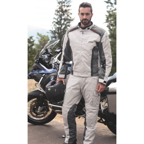 Pantaloni moto touring Befast Tuono Pro Grigio