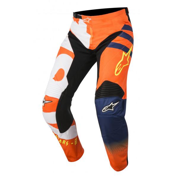 Pantaloni cross Alpinestars Racer Braap arancio fluo blu bianco