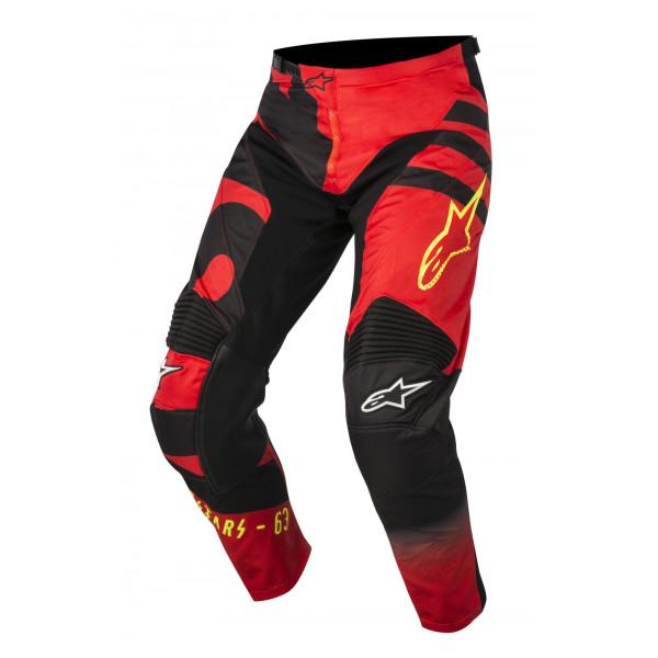 Pantaloni cross Alpinestars Racer Braap rosso nero giallo fluo