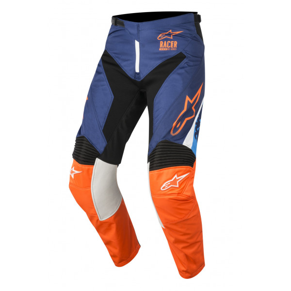 Pantaloni cross Alpinestars Racer Supermatic blu scuro arancio azzurro