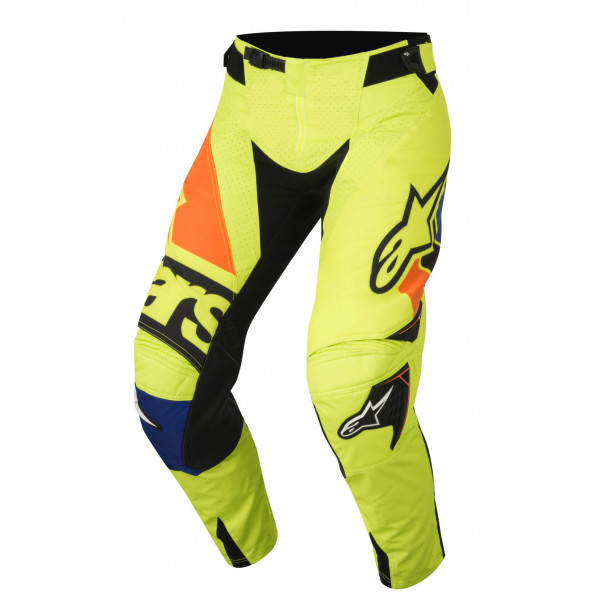 Pantaloni cross Alpinestars Techstar Factory giallo blu nero arancio