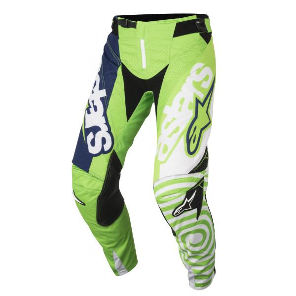 Pantaloni cross Alpinestars Techstar Venom verde fluo bianco blu