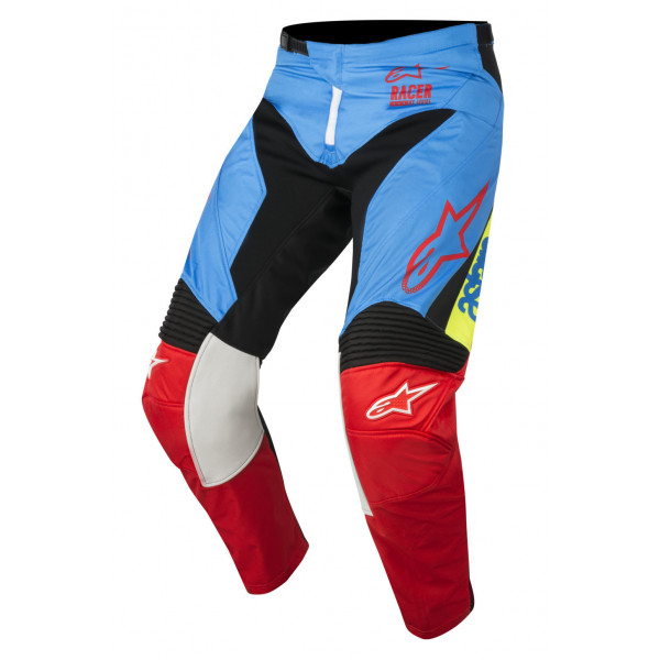 Pantaloni cross bambino Alpinestars Racer Supermatic azzu nero rosso