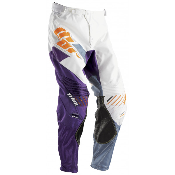 Pantaloni cross Thor Core Merge Bianco Viola