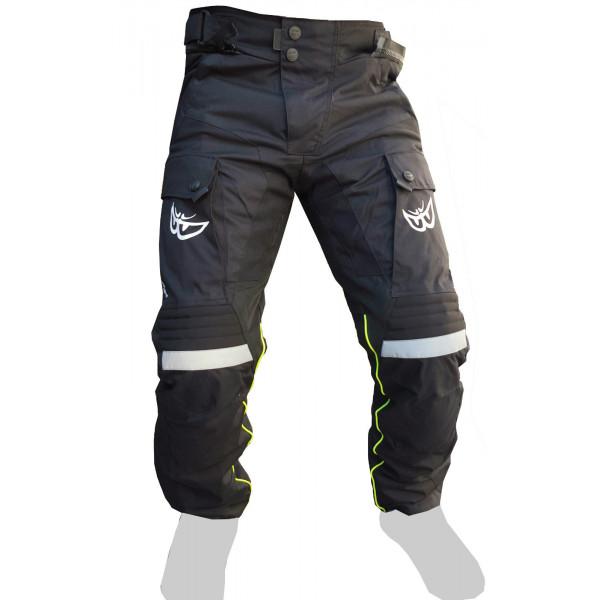 Pantaloni moto Berik 2.0 4 stagioni Nero Grigio Giallo