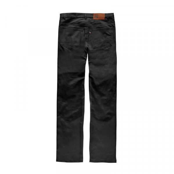 Pantaloni moto Blauer Kevin 5 tasche Canvas nero