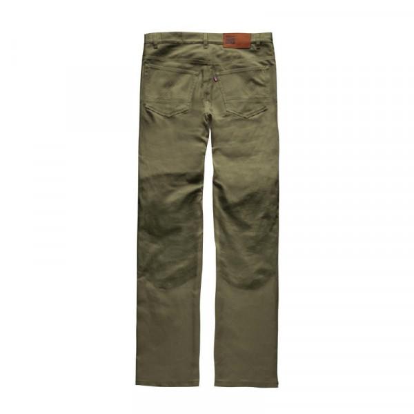 Pantaloni moto Blauer Kevin 5 tasche Canvas verde