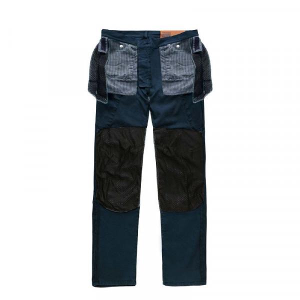 Pantaloni moto Blauer Stuart Cargo Canvas blu