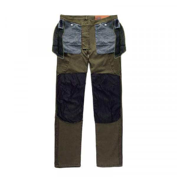 Pantaloni moto Blauer Stuart Cargo Canvas verde
