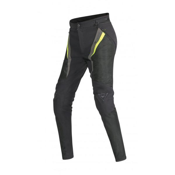 Pantaloni moto donna Dainese Drake Super Air Tex nero giallo fluo grigio