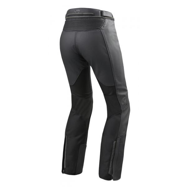 Pantaloni moto donna pelle e tessuto accorciati Rev'it Ignition 3 Ladies Nero