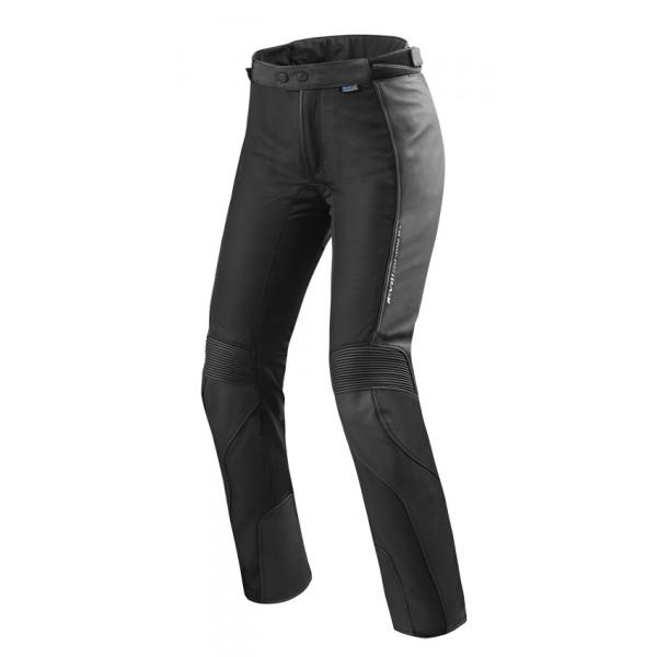 Pantaloni moto donna pelle e tessuto Rev'it Ignition 3 Ladies Nero