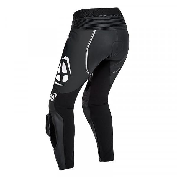 Pantaloni moto donna pelle estivi Ixon VORTEX LADY Nero Bianco