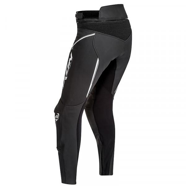 Pantaloni moto donna pelle Ixon TRINITY Nero Bianco Grigio