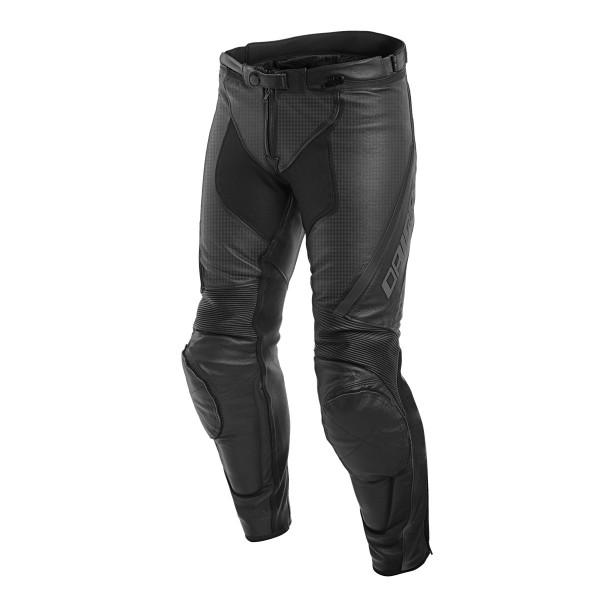 Pantaloni moto donna pelle racing Dainese ASSEN LADY traforati Nero Antracite