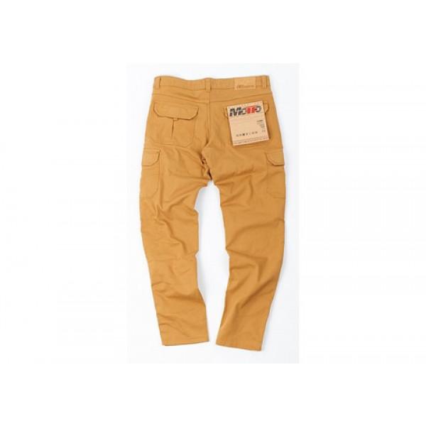 Pantaloni moto Motto HELIOS con rinforzi in Kevlar sabbia