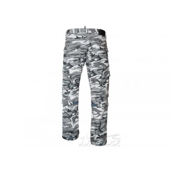 Pantaloni moto Motto URBAN RAM con Kevlar camouflage bianco nero