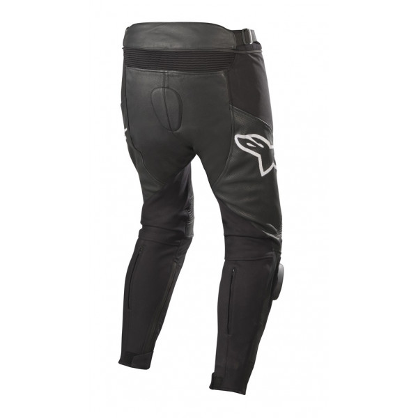 Pantaloni moto pelle Alpinestars SP X AIRFLOW PANTS nero bianco