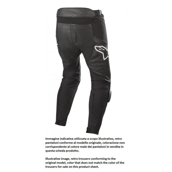 Pantaloni moto pelle Alpinestars SP X AIRFLOW PANTS nero nero