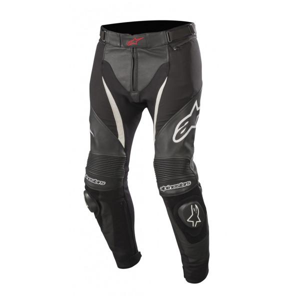 Pantaloni moto pelle Alpinestars SP X PANTS nero bianco