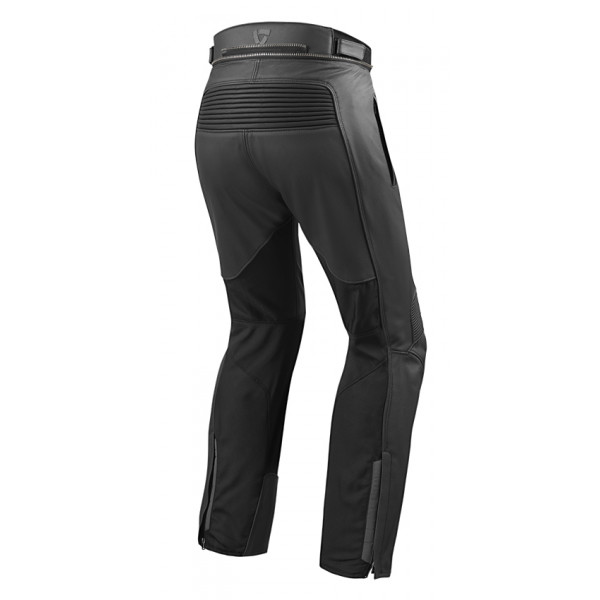 Pantaloni moto pelle e tessuto accorciati Rev'it Ignition 3 Nero