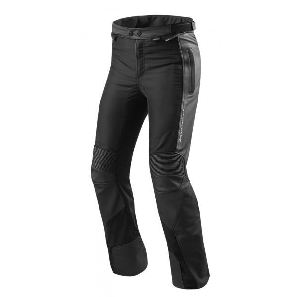 Pantaloni moto pelle e tessuto allungati Rev'it Ignition 3 Nero