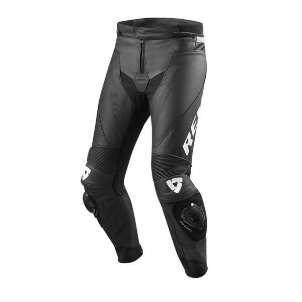 Pantaloni moto pelle estivi accorciati Rev'it Vertex GT Nero Bianco