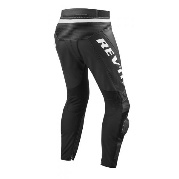 Pantaloni moto pelle estivi allungati Rev'it Vertex GT Nero bianco