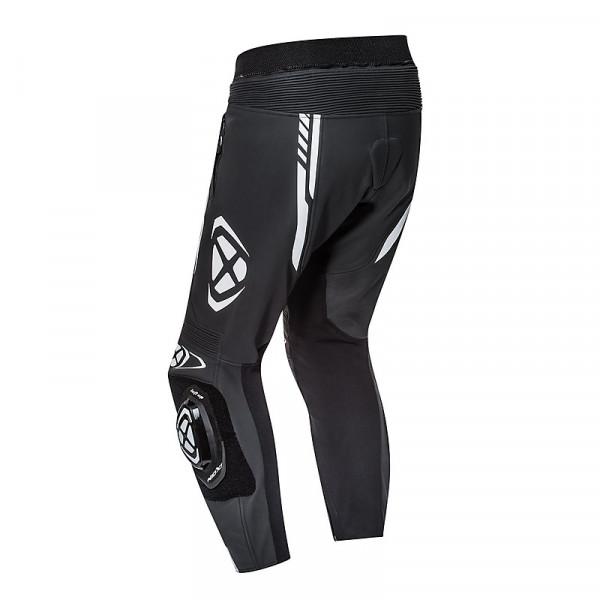 Pantaloni moto pelle estivi Ixon VORTEX 2 Nero Bianco