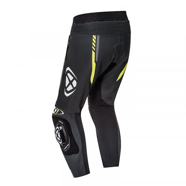 Pantaloni moto pelle estivi Ixon VORTEX 2 Nero Grigio Giallo Vivo