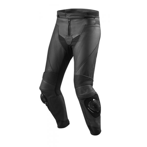 Pantaloni moto pelle estivi Rev'it Vertex GT Nero